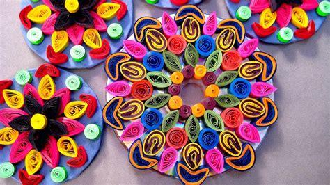 paper quilling craft    rangoli design