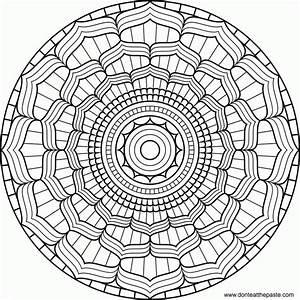 Simple Mandala Designs - Coloring Home