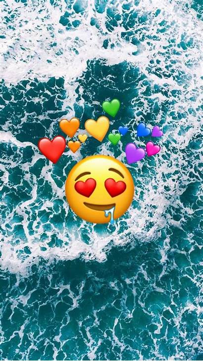 Emoji Iphone Ocean Wallpapers Background Backgrounds Dis