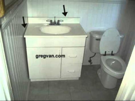 bathroom counter top gaps mold mildew  water damage