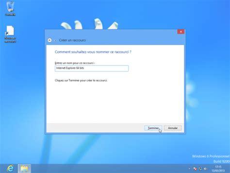 windows 8 raccourci bureau créer un raccourci sur le bureau de windows 8 le crabe info