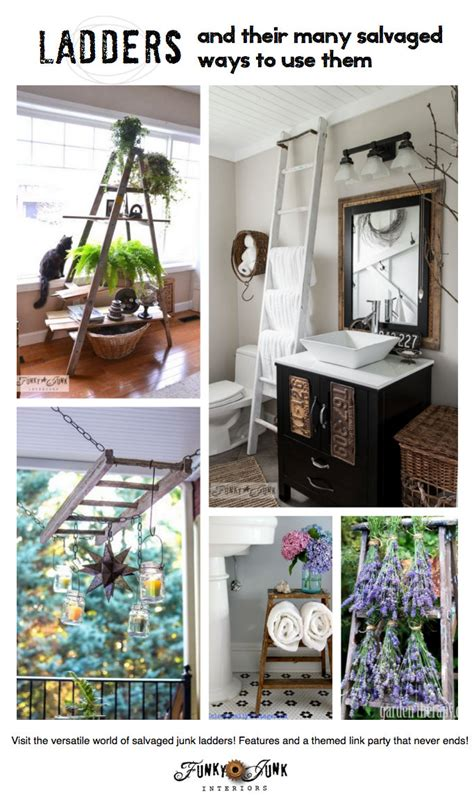 repurposed ladders   ways  decorate