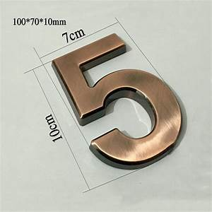 New 1pc 1007010mm plastic house numbers hotel home door for Plastic house letters