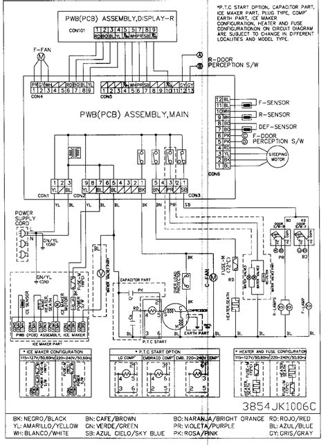 Schematic Wiring Diagram Refrigerator Electrical