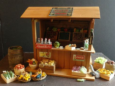 Doll House Miniature House Of Broel Vegetable Room Box By
