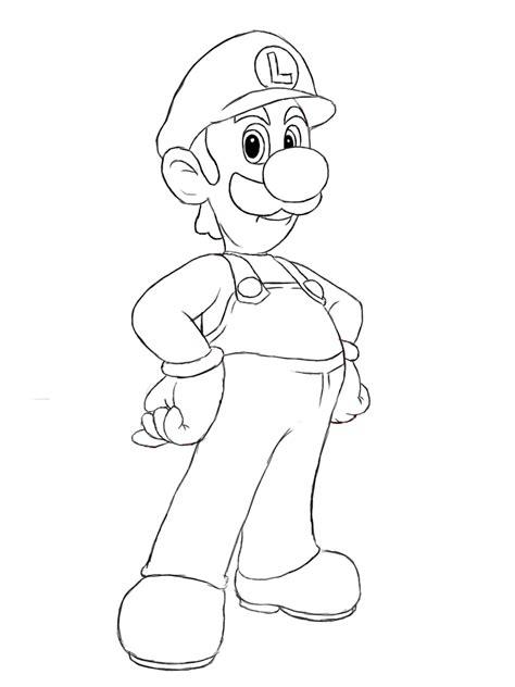 Kleurplaat Luigi Mansion by Free Printable Luigi Coloring Pages For