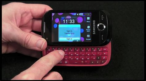 samsung genio  mobile phone review youtube