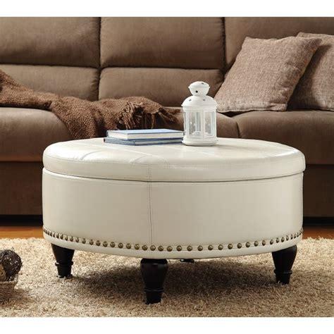 augusta storage leather ottoman  cream bp auot