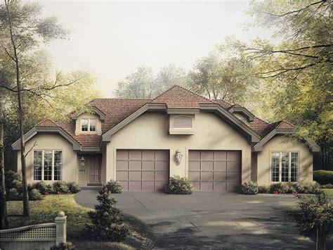 highland multi family duplex plan   house plans