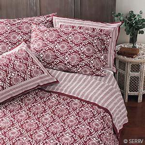 home decor burgundy jaipur bedding