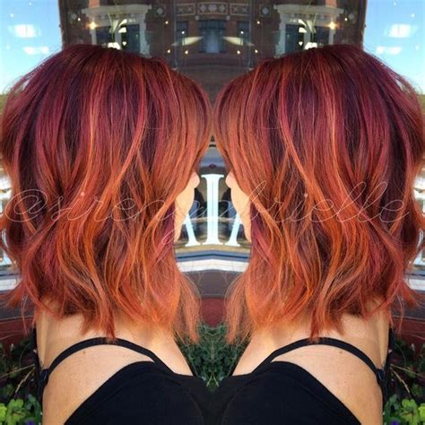 red ombre hair ideas  cool shades highlights