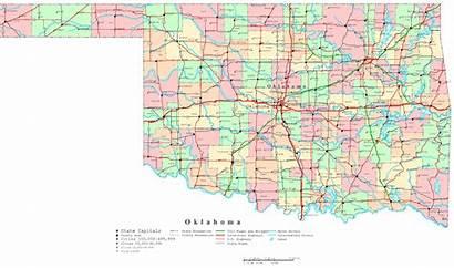 Oklahoma Map Cities Printable Ok State Maps