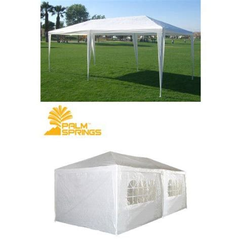 palm springs white party tent gazebo canopy sidewalls palm springs white