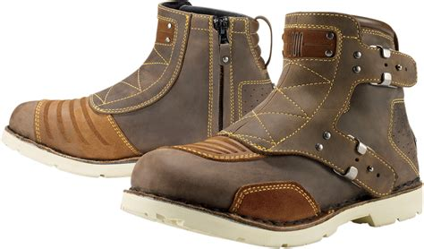 brown leather motorcycle boots icon 1000 el bajo leather motorcycle boot oiled brown