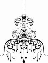 Chandelier Template Coloring Vector Depositphotos Illustration Pages sketch template