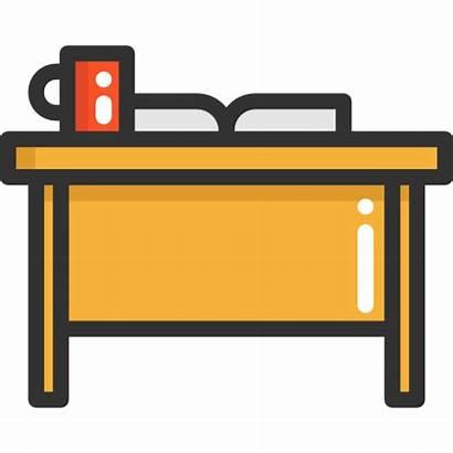 Teacher Desk Classroom Chair Icon Education