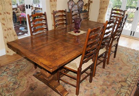 country refectory table and ladderback chair dining set