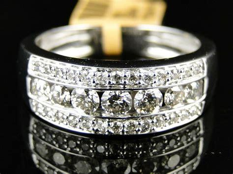 mens white gold  cut diamond ring wedding