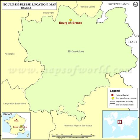 where is bourg en bresse located in