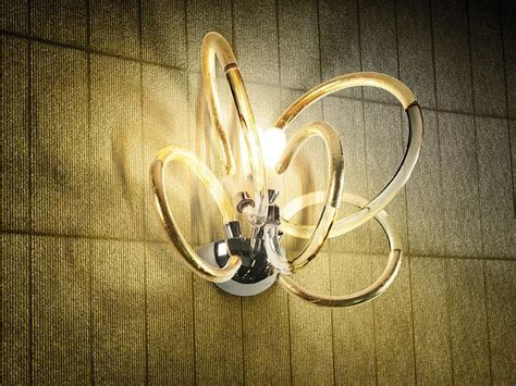 applique classiche lada da parete in ottone with diffusori in filo di