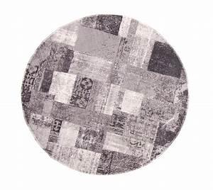 tapis rond 120 cm dalyan rond noir gris blanc With tapis rond gris 120 cm