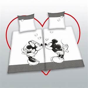 Minnie Maus Bettwäsche : 4tlg disney minnie mickey mouse mouse partner bedding 135x200 heart love ebay ~ Orissabook.com Haus und Dekorationen