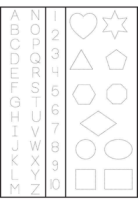 printable number  shapes activity shelter