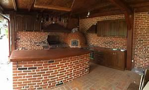 Cuisine construction barbecue brique rouge rapide smac for Barbecue fait maison brique