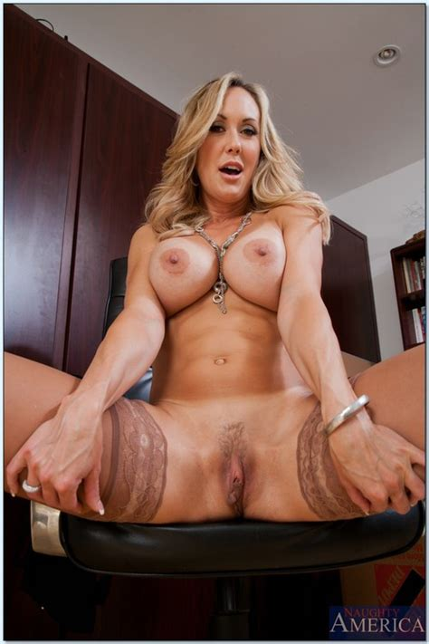 Lovely Blond MILF Boned In The Study Room photos  Brandi