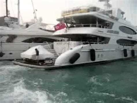 Yacht Accident by Yacht Crash On The Dock Yachtloop Videos Youtube