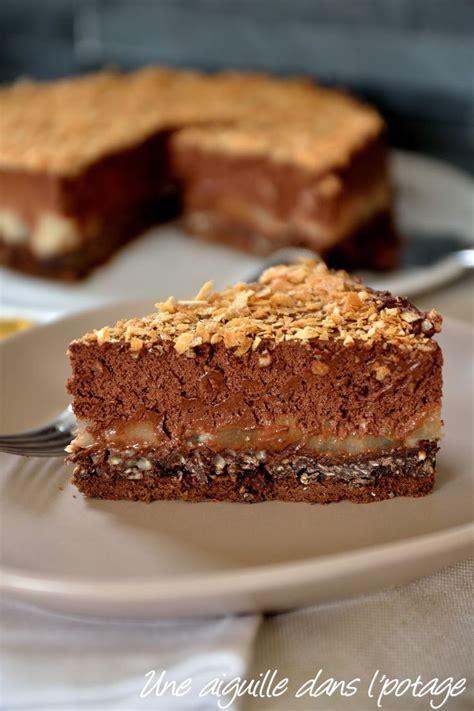 gateau crousti fondant chocolat poire fondant chocolat