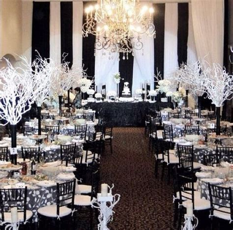 new black and white elegant event decor http www