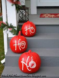Much Ado About Somethin Christmas Pumpkins