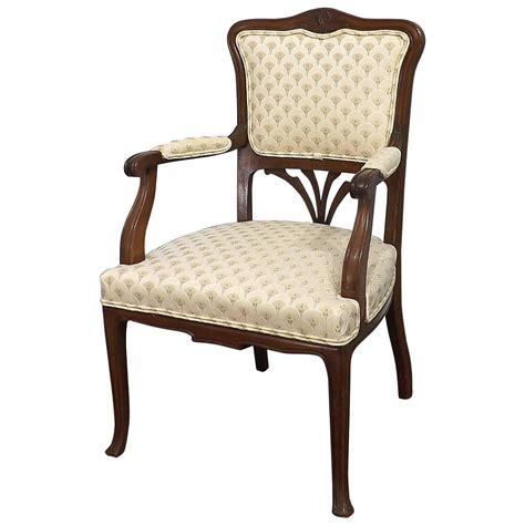 nouveau mahogany chair for sale at 1stdibs