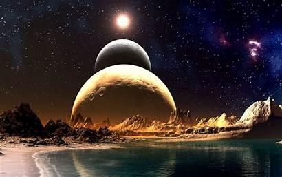 Worlds Far Away Planet Planets Alien Desktop