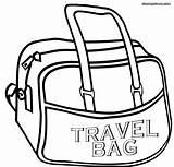 Coloring Bag Travel Popular sketch template