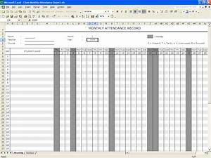 5 attendance register templates excel xlts for School register template spreadsheet