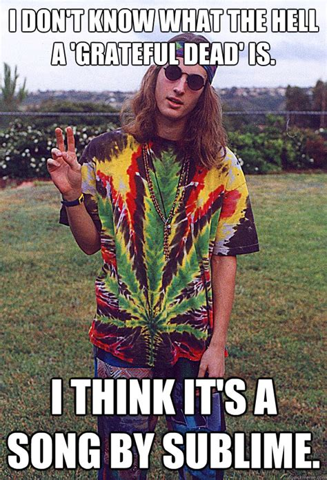 Grateful Dead Memes - i don t know what the hell a grateful dead is i think it s a song by sublime freshman