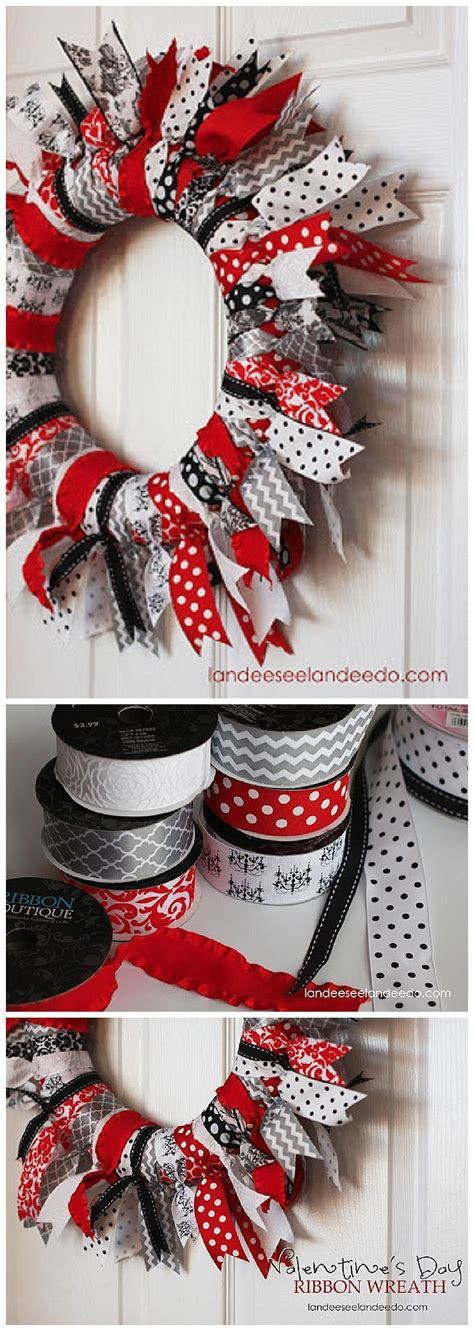 valentines day ribbon wreath ribbon wreath tutorial
