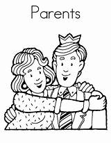 Coloring Parents Pages Respect Showing Colouring Mother Father Honor sketch template