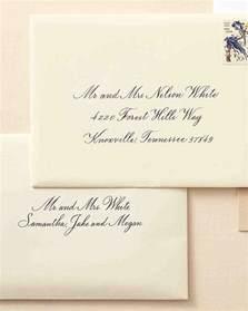 how to write wedding invitations how to address guests on wedding invitation envelopes martha stewart weddings