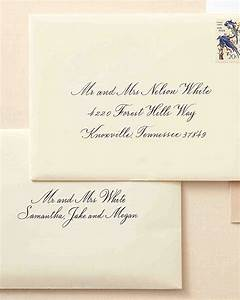 how to address guests on wedding invitation envelopes With addressing wedding invitations one envelope etiquette