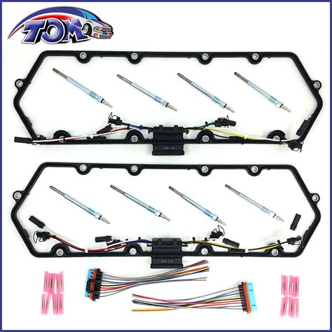 New Cover Gaskets Harness Glow Plugs Kit For