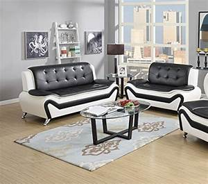 us pride furniture s5067 2pc 2 piece modern bonded leather With elena black leather modern 2 piece sectional sofa set