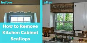 Cover Scalloped Wood Valance Over Kitchen Sink - Mother