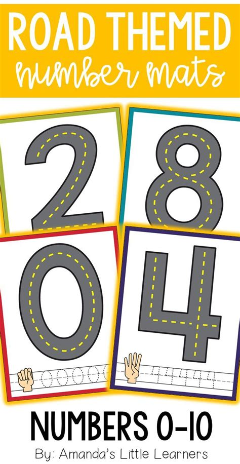 road themed number mats playdough  cars  images