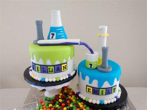mad science cake chemistry bunsen burner erlenmeyer flask