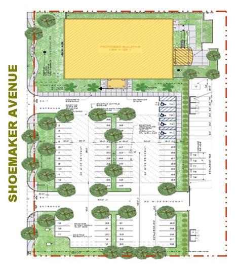 building site plan santa fe springs kiewit office building