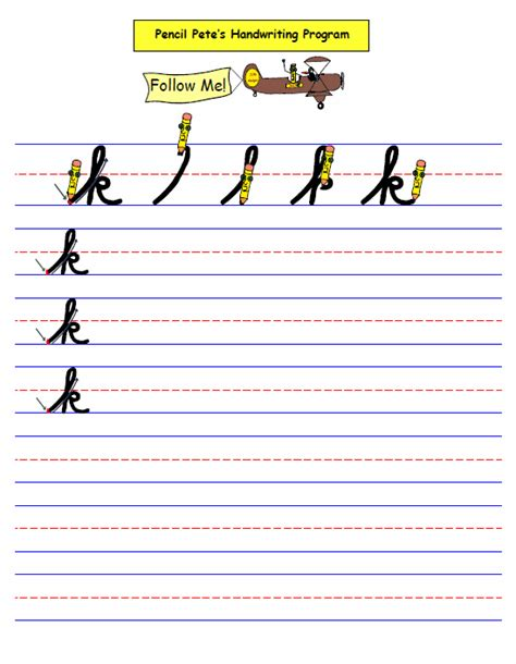 Handwriting Worksheets Cursive  Hand Writing