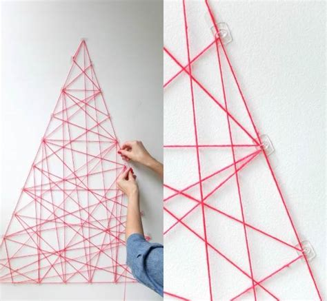 string wall tree 25 creative diy wall projects 50 that you should try